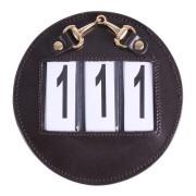 Nummerlapp i läder