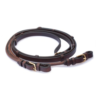 Lädertygel Colorado - Brun, Ponny