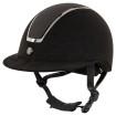 BR Riding Helmet Omega Microfiber Glitter - Black/Gunmetal 58/60