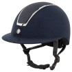 BR Riding Helmet Omega Microfiber Glitter - Navy/Chrome 58/60