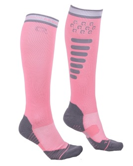 Ridstrumpor super grip - Flaming Pink 35-38