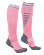 Ridstrumpor super grip - Flaming Pink 35-38