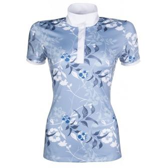 Polo shirt -Sole Mio Floral Joy - Azure/white/navy XS