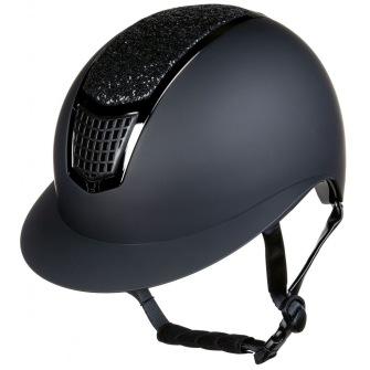 Ridhjälm Glamour Shield - Svart/svart stl 53-55