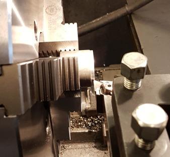 Svarvning av stålprodukter