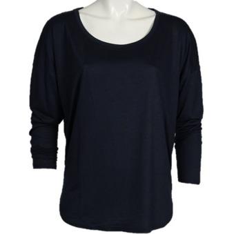 Nugga viscose l/s blouse - Nugga viscose t shirt marin S