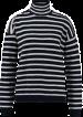 Stickad Randig Polo Garcia - Randig polo garcia marin XL