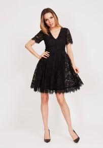 Serena Dress Black Lace