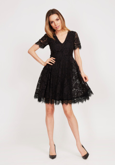 Serena Dress Black Lace - Serena dress S
