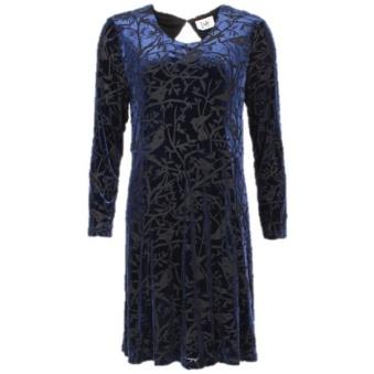 Nakita Velvet Dress - Nakita velvet dress blå XS