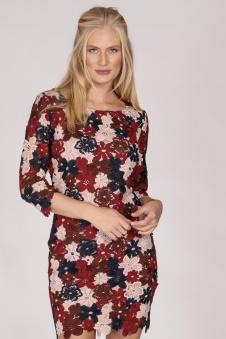 Flower Lace Dress - Flower lace dress S