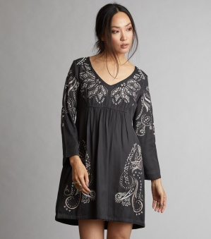 Plume Dress - Plume dress asphalt 1