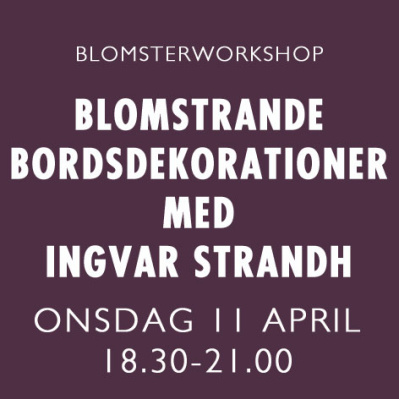 DEKORATIONER m INGVAR STRANDH / 11 APRIL -