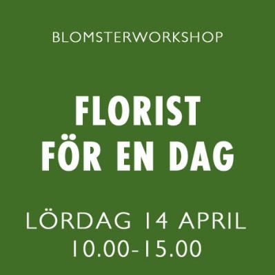 FLORIST FÖR EN DAG / 14 APRIL -