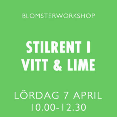 STILRENT I VITT & LIME / 7 APRIL -