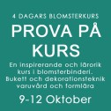 PROVA PÅ KURS / 9 - 12 OKT