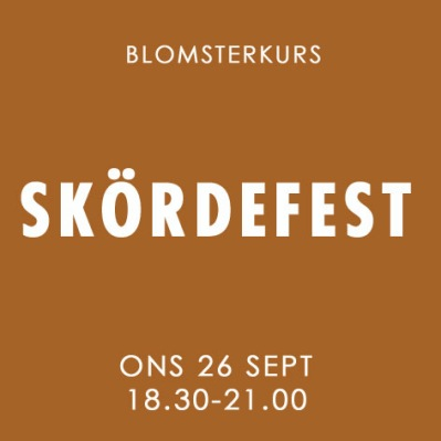 SKÖRDEFEST / 26 SEPTEMBER -