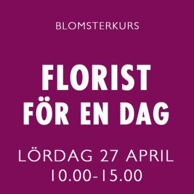 FLORIST FÖR EN DAG / 27 APRIL -
