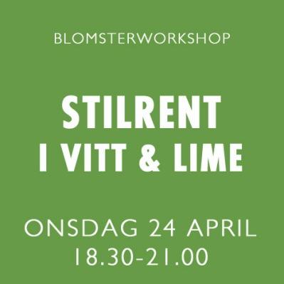 STILRENT I VITT & LIME / 24 APRIL -