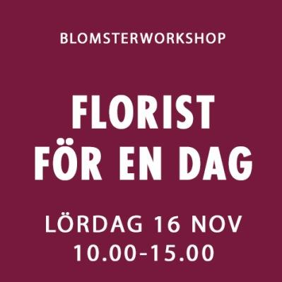 FLORIST FÖR EN DAG / 16 NOV -