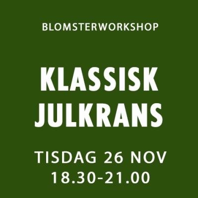 KLASSISK JULKRANS / 26 NOV -
