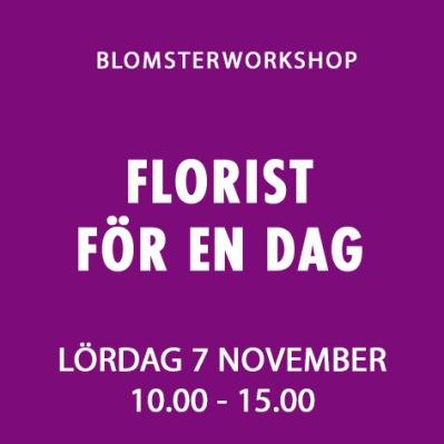 FLORIST FÖR EN DAG / 7 NOV -