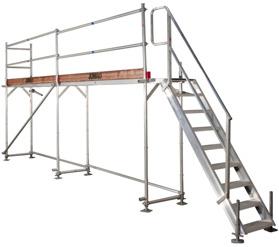 Fasadställning Superflex, art.nr 212006S (extrautrustad med trappa)
