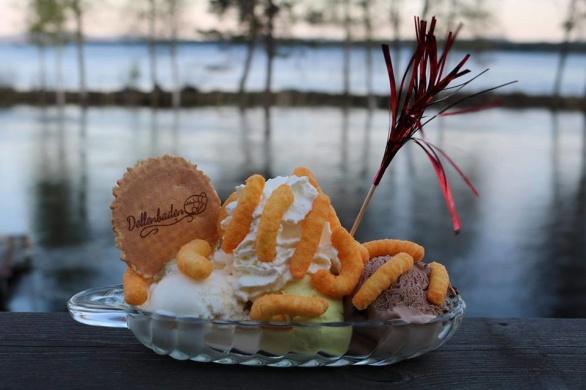 En av våra poplulära glassar från vår meny: Ost-indienfararen!