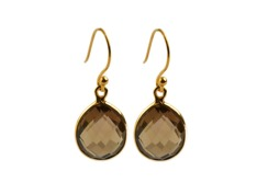 Syster P Raindrop earring gold-smokey