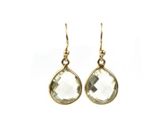 Syster p Raindrop earring gold-green