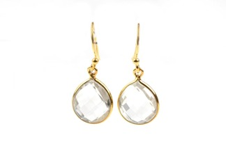 Syster P Raindrop earring gold-crystal