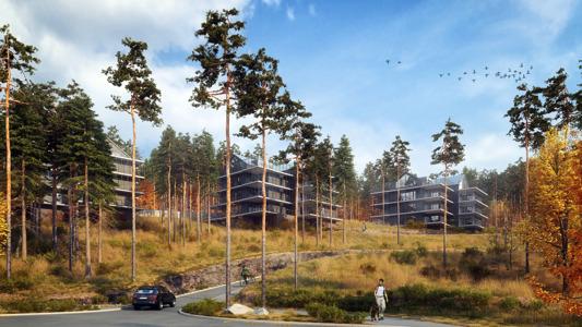 Brf Bredablick, Stadsskogen i Alingsås