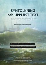 Rapporten Syntolkning och uppläst text. Omslagsbild.