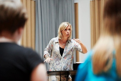Susanna Lindmark och kören Arctic light