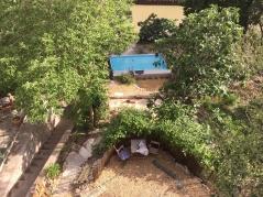 Trädgården från balkongen