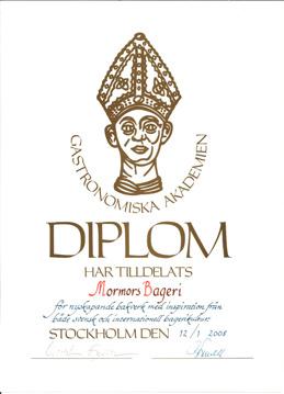 Diplom, Gastronomiska Akademien