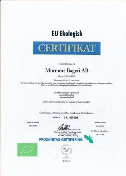 EU Ekologisk Certifikat