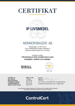 IPL Certifikat