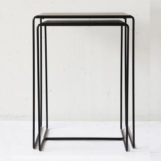Bord 2-set miljö metall - Poorvo satsbord, svart