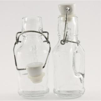 Glasföremål - Små flaskor porslinkork