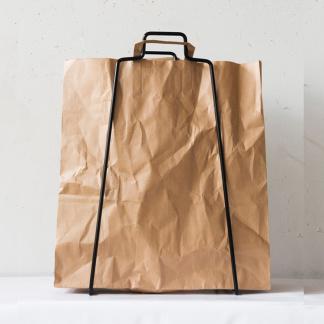 Bag paperspåse natur