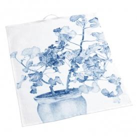 Handduk blå pelargon