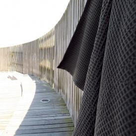 Våfflad medium handduk