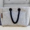 Nieta oversized filtväska - Väska svarta handtag