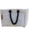 Nieta oversized filtväska - Väska vita handtag
