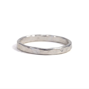 Ekosilver hamrad ring