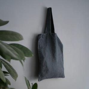 Linne påsväska grå