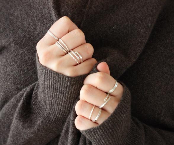 Ringar / Smycken i eko-silver.