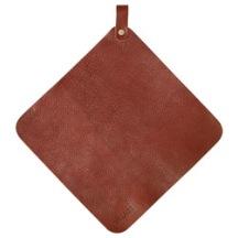 Grytlapp läder brun