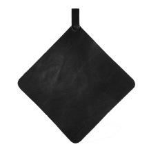 Grytlapp läder svart